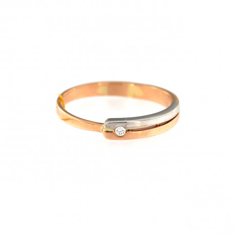 Rose gold ring with diamond DRBR06-06