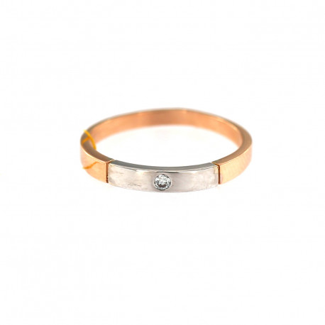 Rose gold ring with diamond DRBR06-07
