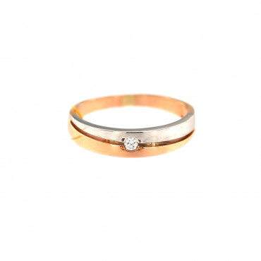 Rose gold ring with diamond DRBR06-08