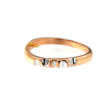 Rose gold ring with diamond DRBR06-10