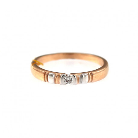 Rose gold ring with diamond DRBR06-12