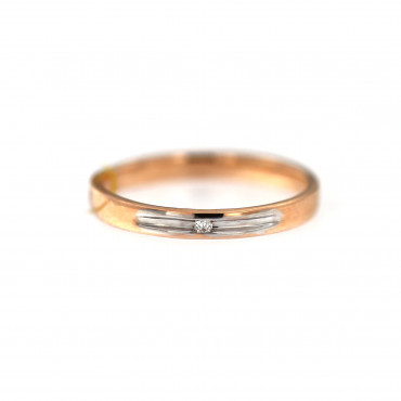 Rose gold ring with diamond DRBR06-14-2