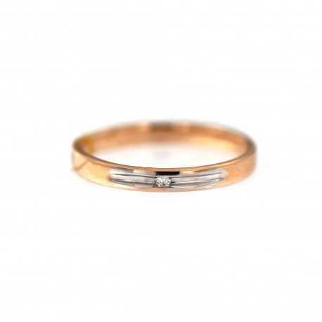 Rose gold ring with diamond DRBR06-14