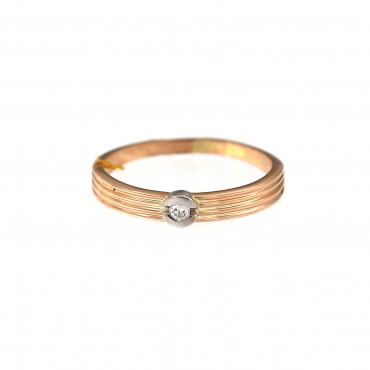 Rose gold ring with diamond DRBR06-15