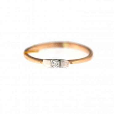 Rose gold ring with diamond DRBR06-16