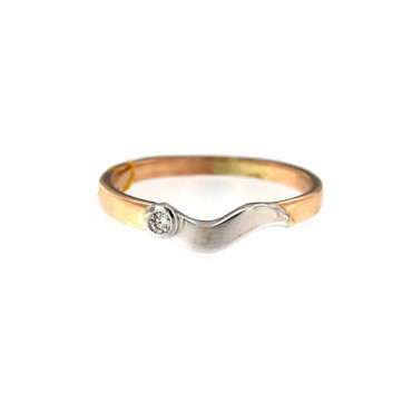 Rose gold ring with diamond DRBR06-18