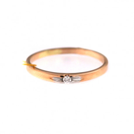 Rose gold ring with diamond DRBR06-19