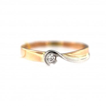 Rose gold ring with diamond DRBR06-20
