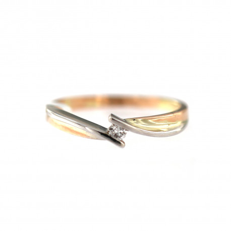 Rose gold ring with diamond DRBR07-01