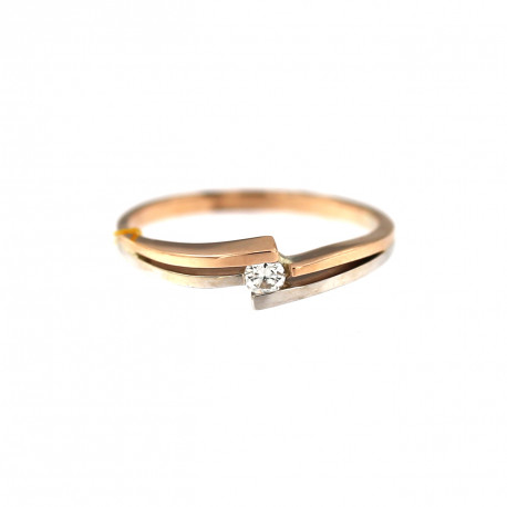 Rose gold ring with diamond DRBR07-04