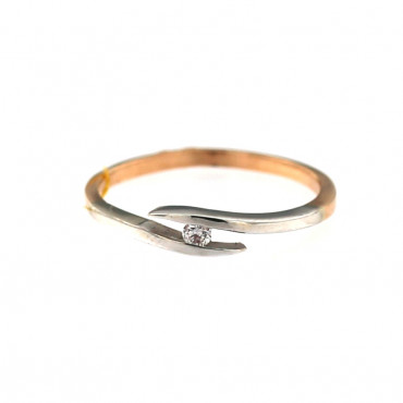 Rose gold ring with diamond DRBR07-05