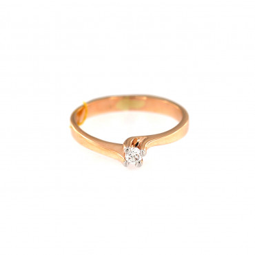 Rose gold ring with diamond DRBR08-01