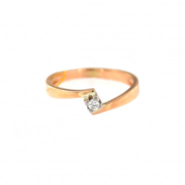 Rose gold ring with diamond DRBR08-02