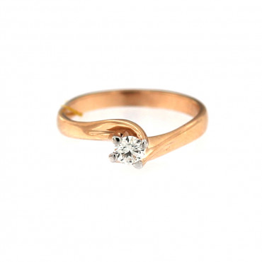 Rose gold ring with diamond DRBR08-03