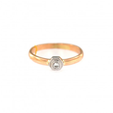Rose gold ring with diamond DRBR09-01