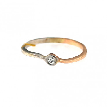 Rose gold ring with diamond DRBR09-03-2