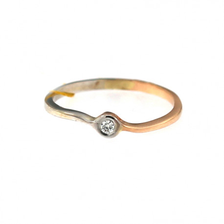 Rose gold ring with diamond DRBR09-03