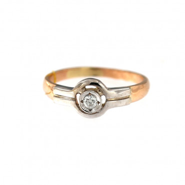 Rose gold ring with diamond DRBR09-04-1
