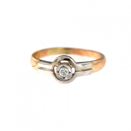Rose gold ring with diamond DRBR09-04