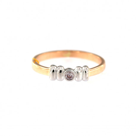 Rose gold ring with diamond DRBR09-05