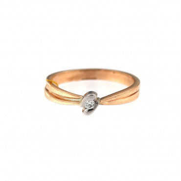 Rose gold ring with diamond DRBR09-06