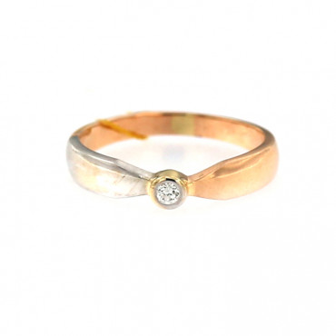 Rose gold ring with diamond DRBR09-07