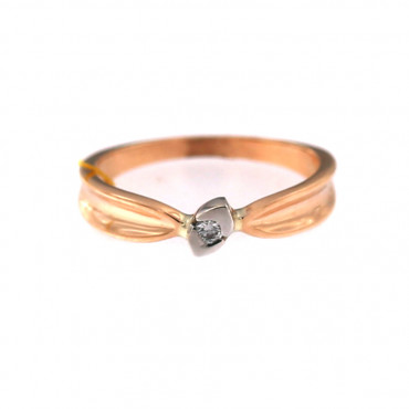 Rose gold ring with diamond DRBR09-08