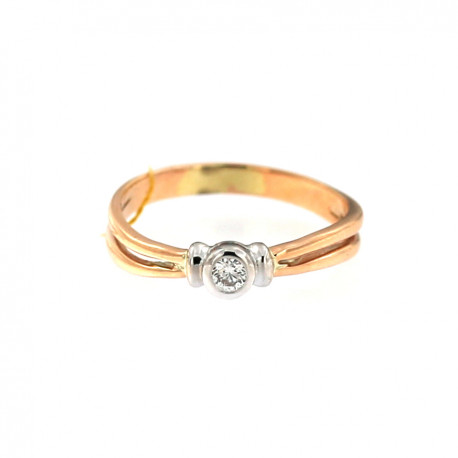 Rose gold ring with diamond DRBR09-09