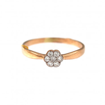 Rose gold ring with diamonds DRBR10-01-2