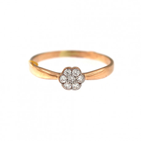 Rose gold ring with diamonds DRBR10-01