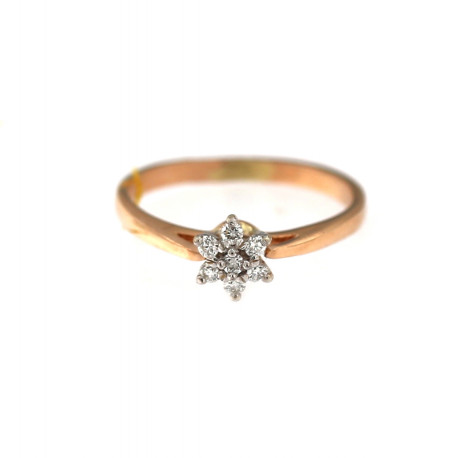 Rose gold ring with diamonds DRBR10-02