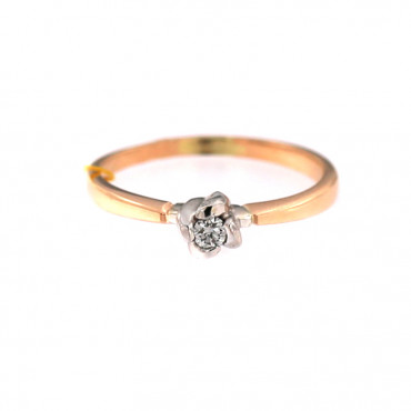 Rose gold ring with diamond DRBR11-01