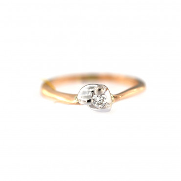 Rose gold ring with diamond DRBR11-02
