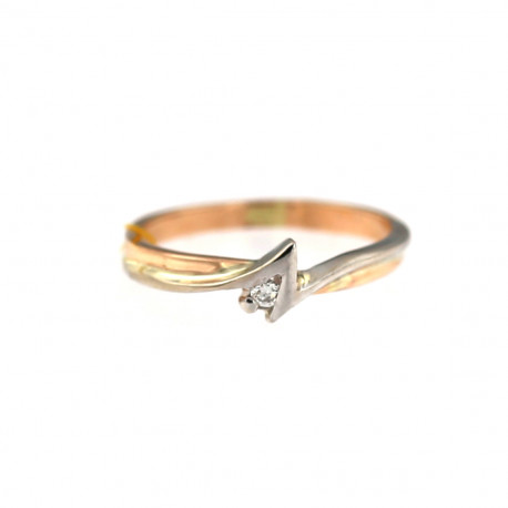 Rose gold ring with diamond DRBR12-01