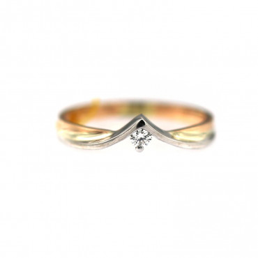 Rose gold ring with diamond DRBR12-02