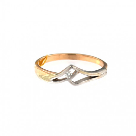 Rose gold ring with diamond DRBR12-04