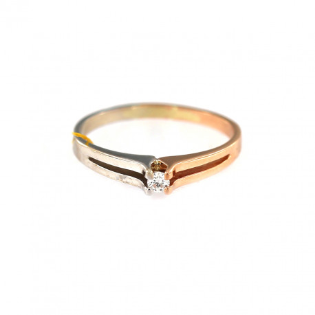 Rose gold ring with diamond DRBR13-01