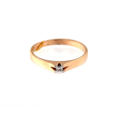 Rose gold ring with diamond DRBR13-03