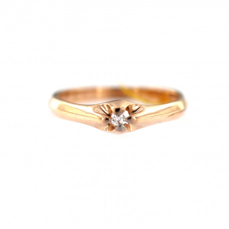 Rose gold ring with diamond DRBR13-04