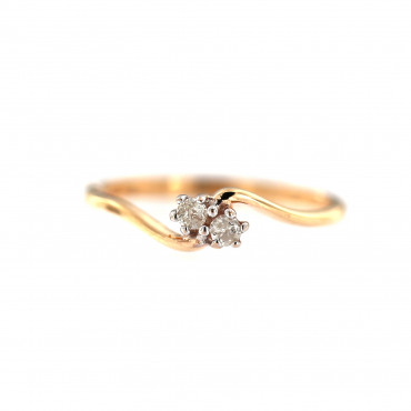 Rose gold ring with diamonds DRBR01