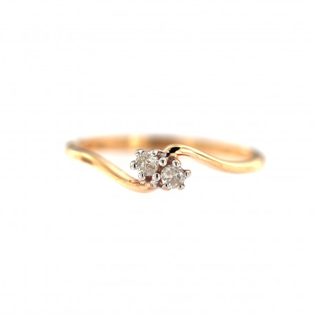 Rose gold ring with diamond DRBR01