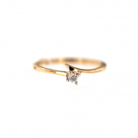 Rose gold ring with diamond DRBR02