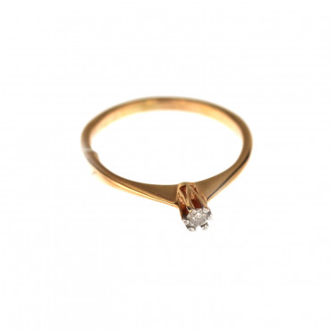 Rose gold ring with diamond DRBR03