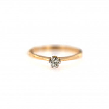 Rose gold ring with diamond DRBR05