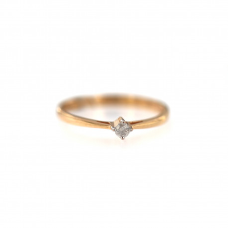Rose gold ring with diamond DRBR06