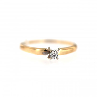 Rose gold ring with diamond DRBR07