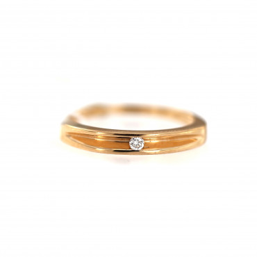 Rose gold ring with diamond DRBR08