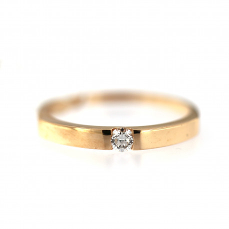 Rose gold ring with diamond DRBR09