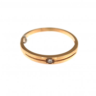 Rose gold ring with diamond DRBR10