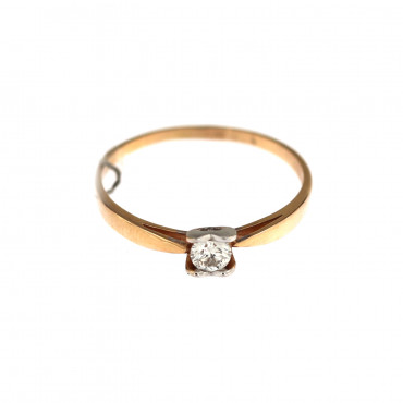 Rose gold ring with diamond DRBR11